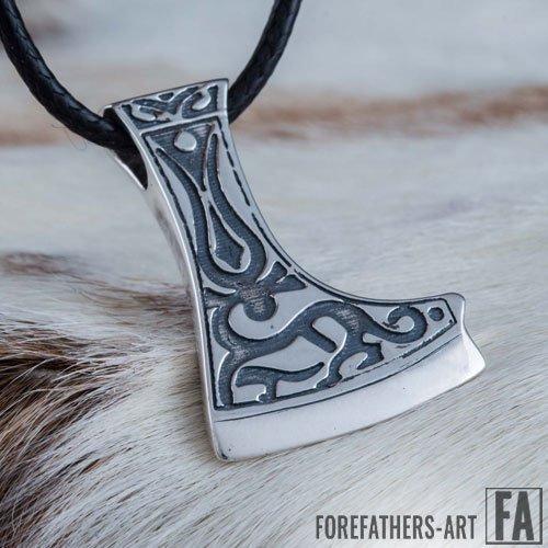 Perun Axe Pendant Viking Norse Necklace