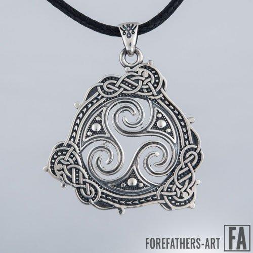 Triskelion Pendant Triple Spiral Celtic Pendant