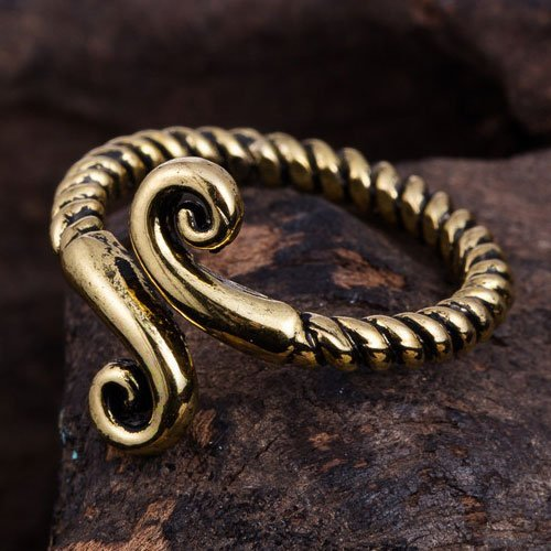 Pagan Ring Beautiful Spiral Knot Ring