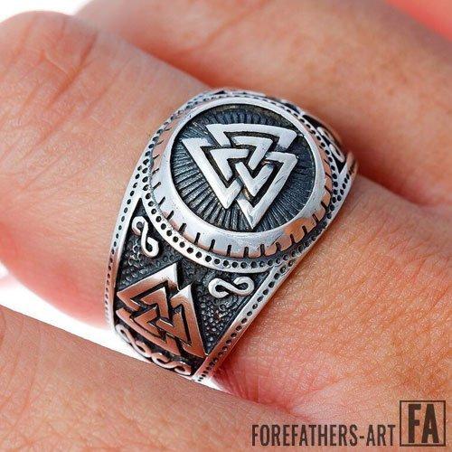 Valknut Ring Odin Icelandic Norse Viking Ring