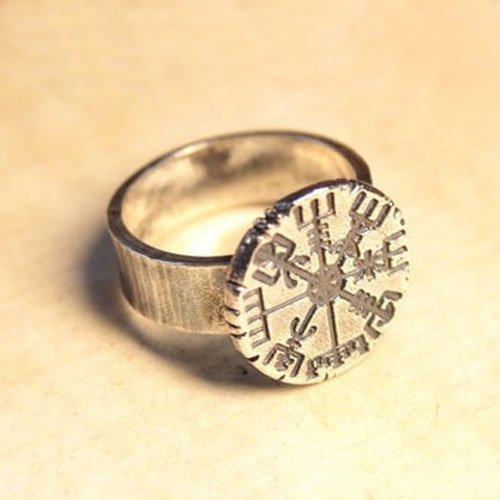 Vegvisir Compass Ring Icelandic Norse Viking Ring Vintage