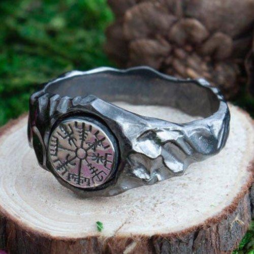 Vegvisir Norse Viking Compass Ring Vintage