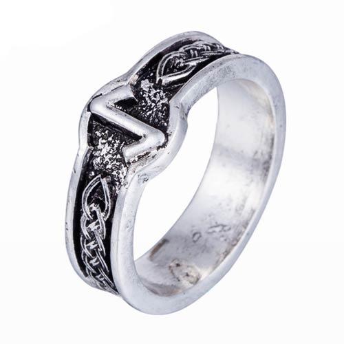 Viking Rune Ring Eiwaz - Norse Letter Ring