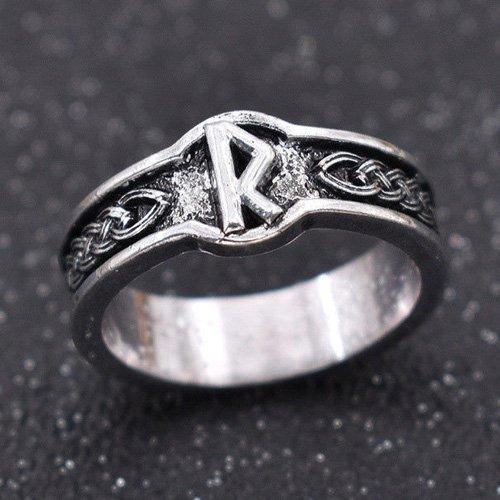 Viking Rune Ring Raido - Norse Letter Ring