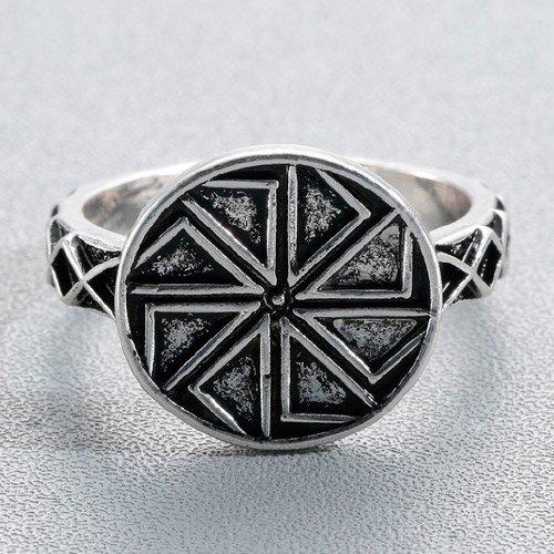 Viking Swastika Ring - Sun Wheel Pagan Ring