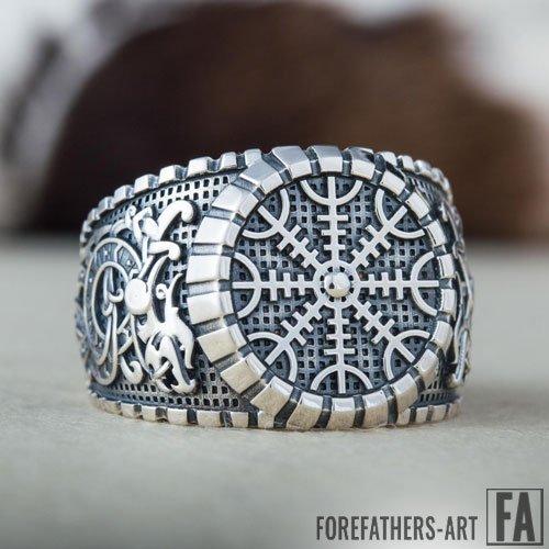 Helm of Awe Jormungand Viking Ring Norse Icelandic Ring