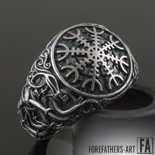 Helm of Awe Ring Viking Norse Ring Urnes Style