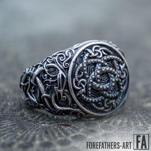 Jormungandr Viking Norse Ring Urnes Style