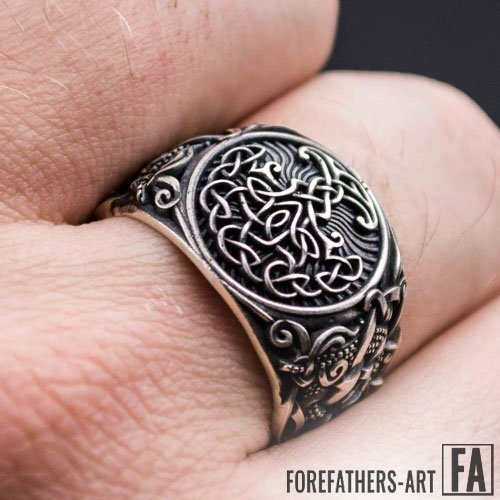 Norse Ring Yggdrasil with Mammen Viking Ring