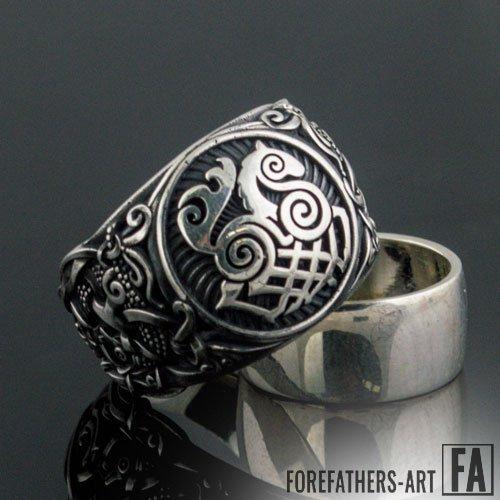 Sleipnir Viking Ring The Sliding One Mammen Ornament Viking Norse Jewelry