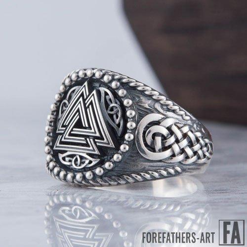 Valknut Viking Ring Odin Ring With Celtic Knot