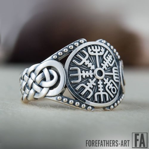 Vegvisir Viking Ring Celtic Knot Norse Jewelry