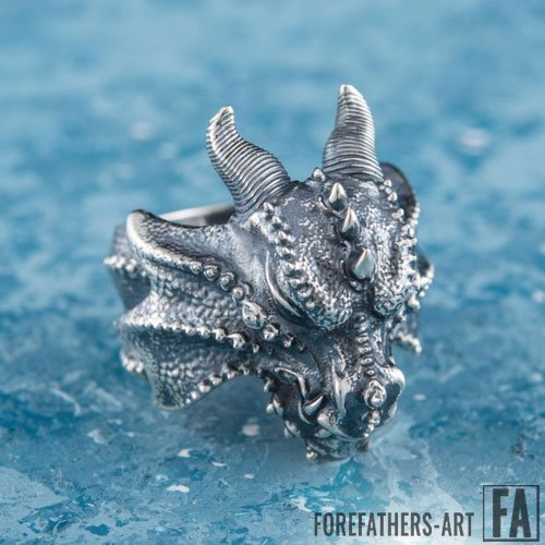 Viking Dragon Ring Nidhogg Jormungand