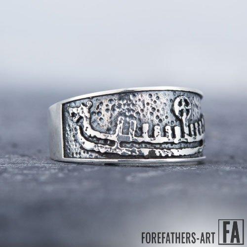 Viking Ring Drakkar Viking Longship Norse Jewelry