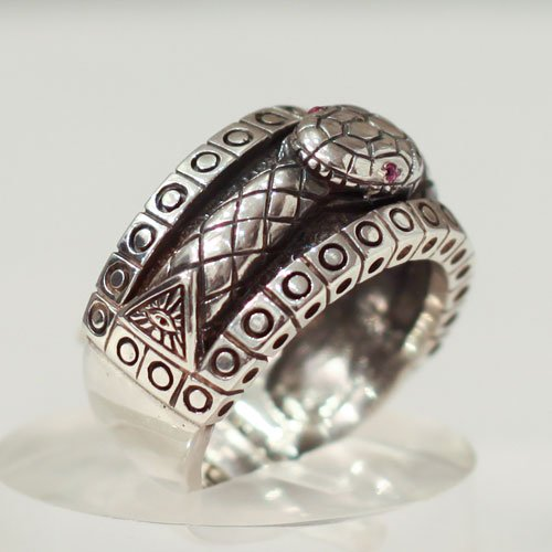 Ouroboros Snake Ring Wiccan Evil Eye Ring
