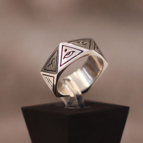 Pagan Ring Triangle Occult Ring