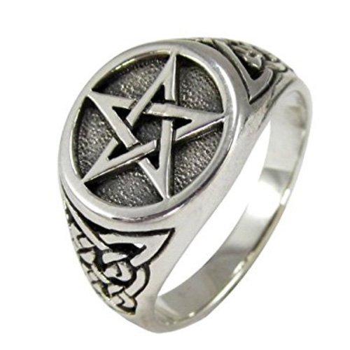 Pentacle Ring Occult Satanic Pentagram Ring