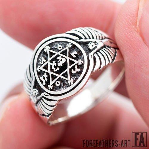 Seal of King Solomon Ring Secret Seal of Solomon Ring