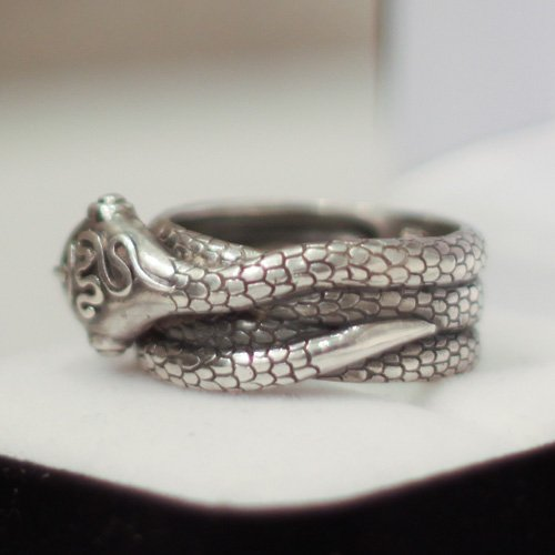 Ouroboros Ring Wiccan Snake Ring