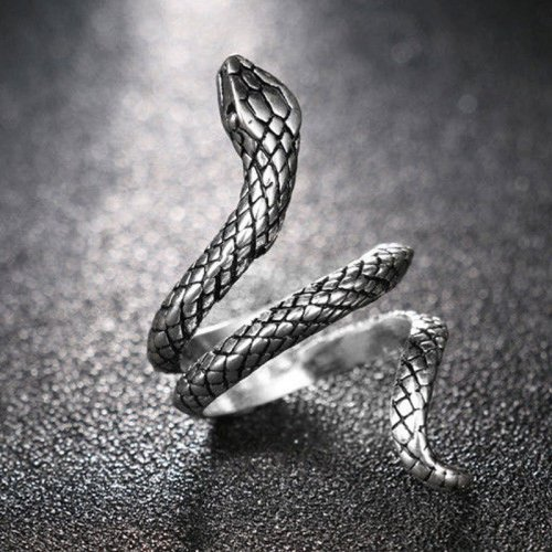 Snake Ring Silver Animal Jewelry