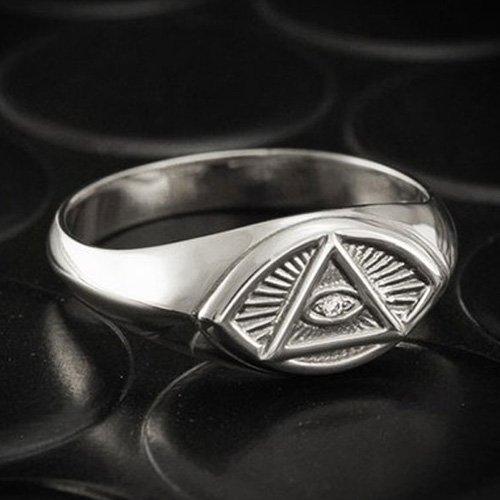 Wiccan Third Eye Ring - Zircon Eye