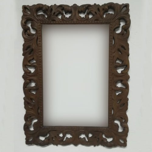 Carved Wooden Mirror Frame Antique Baroque