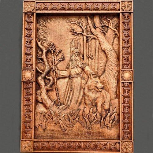 Pagan Wood Carving Belobog Slavic Mythology