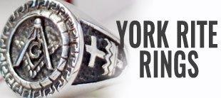 York Rite Knights Templar Rings